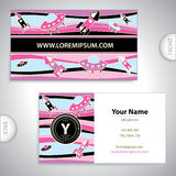 Universal business card with rockets. Universal business card with rockets and UFO Royalty Free Stock Images