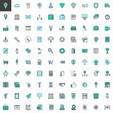 Universal business filled outline icons set. Line vector symbol collection, linear colorful pictogram pack. Signs, logo illustration, Set includes icons as Stock Image