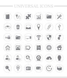 Universal business icon set. 36 universal icons for web and mobile. Vector icon set Royalty Free Stock Images
