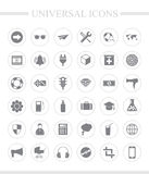 Universal business icon set. Royalty Free Stock Photos