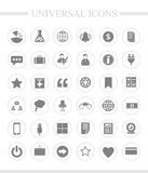 Universal business icon set. 36 universal icons for web and mobile. Vector icon set Royalty Free Stock Photography