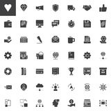 Universal business vector icons set. Modern solid symbol collection, filled style pictogram pack. Signs, logo illustration. Set includes icons as megaphone Royalty Free Stock Photo