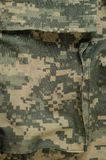 Universal camouflage pattern cargo storage pocket, army combat uniform acu Stock Photos