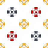 Universal casino chips seamless patterns Stock Images