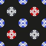 Universal casino chips seamless patterns Stock Photo