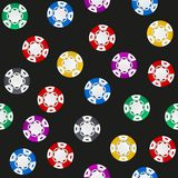 Universal casino chips seamless patterns Royalty Free Stock Photography