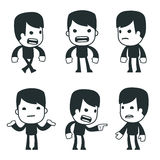 Universal characters in different poses. casual Royalty Free Stock Photography