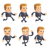 Universal characters in different poses. financial. Different independent and interactive poses. financial advisor Royalty Free Stock Image