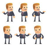 Universal characters in different poses. financial. Different independent and interactive poses. financial advisor Stock Images