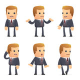 Universal characters in different poses. financial. Different independent and interactive poses. financial advisor Stock Image