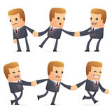 Universal characters in different poses. financial. Different independent and interactive poses. financial advisor Stock Photo