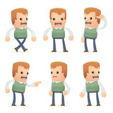 Universal characters in different poses. genius. Royalty Free Stock Images