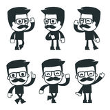 Universal characters in different poses. icon Stock Photos