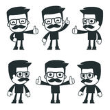 Universal characters in different poses. icon Royalty Free Stock Photos
