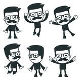 Universal characters in different poses. icon Stock Image