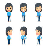 Universal characters in different poses. Royalty Free Stock Photography