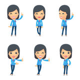 Universal characters in different poses. Royalty Free Stock Image