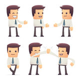 Universal characters in different poses. manager. Different independent and interactive poses. manager royalty free illustration