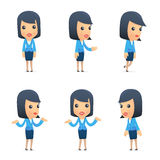 Universal characters in different poses. manager. Royalty Free Stock Photo