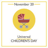 Universal Childrens Day. November 20. Vector illustration for you design, card, banner, poster and calendar vector illustration