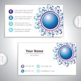 Universal city buildings business card. Stock Image