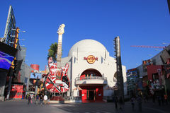 Universal CityWalk Hollywood. Los Angeles, California, USA - October 10, 2014: Universal CityWalk Hollywood is a three block entertainment, dining and shopping Royalty Free Stock Photography