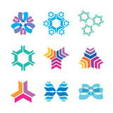 Nanotechnology icons Stock Image