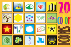 Universal color icon set  Stock Image