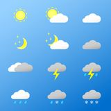 Universal color icons Weather. Royalty Free Stock Photography
