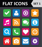 Universal Colorful Flat Icons. Royalty Free Stock Images