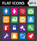 Universal Colorful Flat Icons. Royalty Free Stock Image