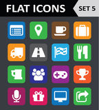 Universal Colorful Flat Icons. Stock Photography