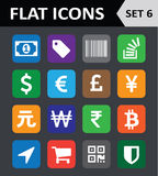 Universal Colorful Flat Icons. Royalty Free Stock Photo