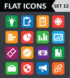 Universal Colorful Flat Icons. Set 12 Royalty Free Stock Image
