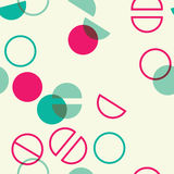 Universal colorful geometric seamless pattern with circle lap and split times. Simple universal colorful geometric seamless pattern with circle lap and split stock illustration