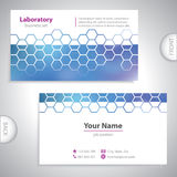 Universal dark blue business card. Stock Images