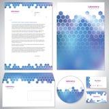 Universal dark blue corporate identity template. Royalty Free Stock Image
