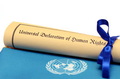 Universal Declaration of Human Rights Royalty Free Stock Photography