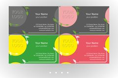 Vivid business card vector floral templates set royalty free illustration