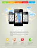 Universal design mobile phones Stock Image