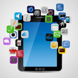 Universal design Tablet with app icons vector Stock Photo