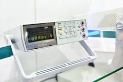 Universal desktop voltmeter in store. Universal portable desktop voltmeter in store royalty free stock photography