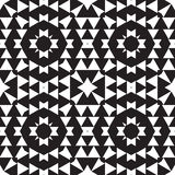 Universal different geometric seamless patterns. You can be used vector monochrome geometric ornaments for wallpaper, pattern fills, web page background Stock Image