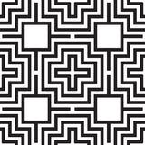 Universal different geometric seamless patterns. You can be used vector monochrome geometric ornaments for wallpaper, pattern fills, web page background Royalty Free Stock Photo