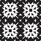 Universal different geometric seamless patterns. You can be used vector monochrome geometric ornaments for wallpaper, pattern fills, web page background Stock Photography