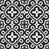 Universal different geometric seamless patterns. You can be used vector monochrome geometric ornaments for wallpaper, pattern fills, web page background royalty free illustration
