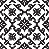 Universal different geometric seamless patterns. You can be used vector monochrome geometric ornaments for wallpaper, pattern fills, web page background stock illustration