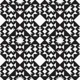 Universal different geometric seamless patterns. You can be used vector monochrome geometric ornaments for wallpaper, pattern fills, web page background Stock Photos