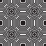 Universal different geometric seamless patterns. You can be used vector monochrome geometric ornaments for wallpaper, pattern fills, web page background Royalty Free Stock Photography