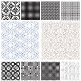 10 Universal different  seamless patterns Royalty Free Stock Images